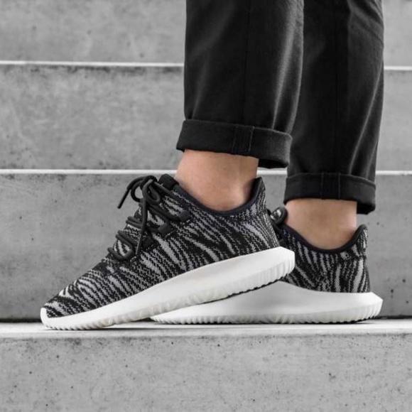 774afdf4d914 ADIDAS TUBULAR SHADOW grey black sneakers W8